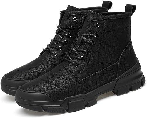 EGS-chaussures Bottines pour Hommes Bottes de Sport de Style Britannique à Laçage Simple, à la Britannique, à Lacets Chaussures de Cricket (Couleur   Noir, Taille   43 EU)