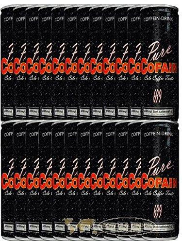 24 Dosen Pure Cofain 699 Energy Koffein Drink a 250 ml in Dose inc. Pfand