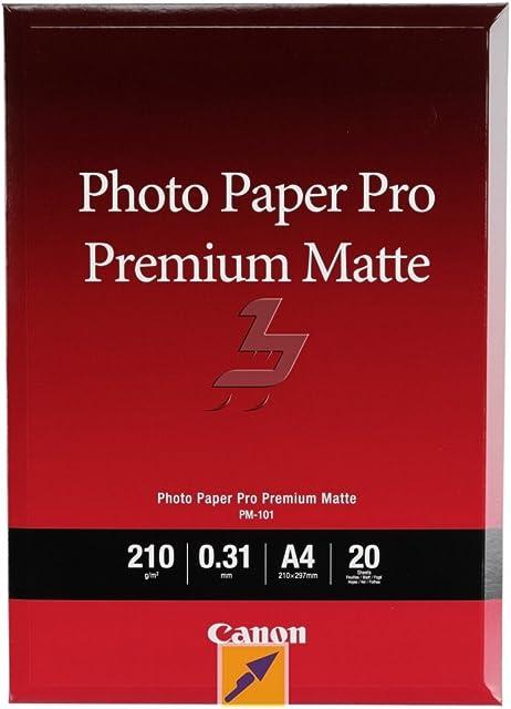 Canon consumible papel fotográfico PRO Premium mate PM-101 A4 20 hojas