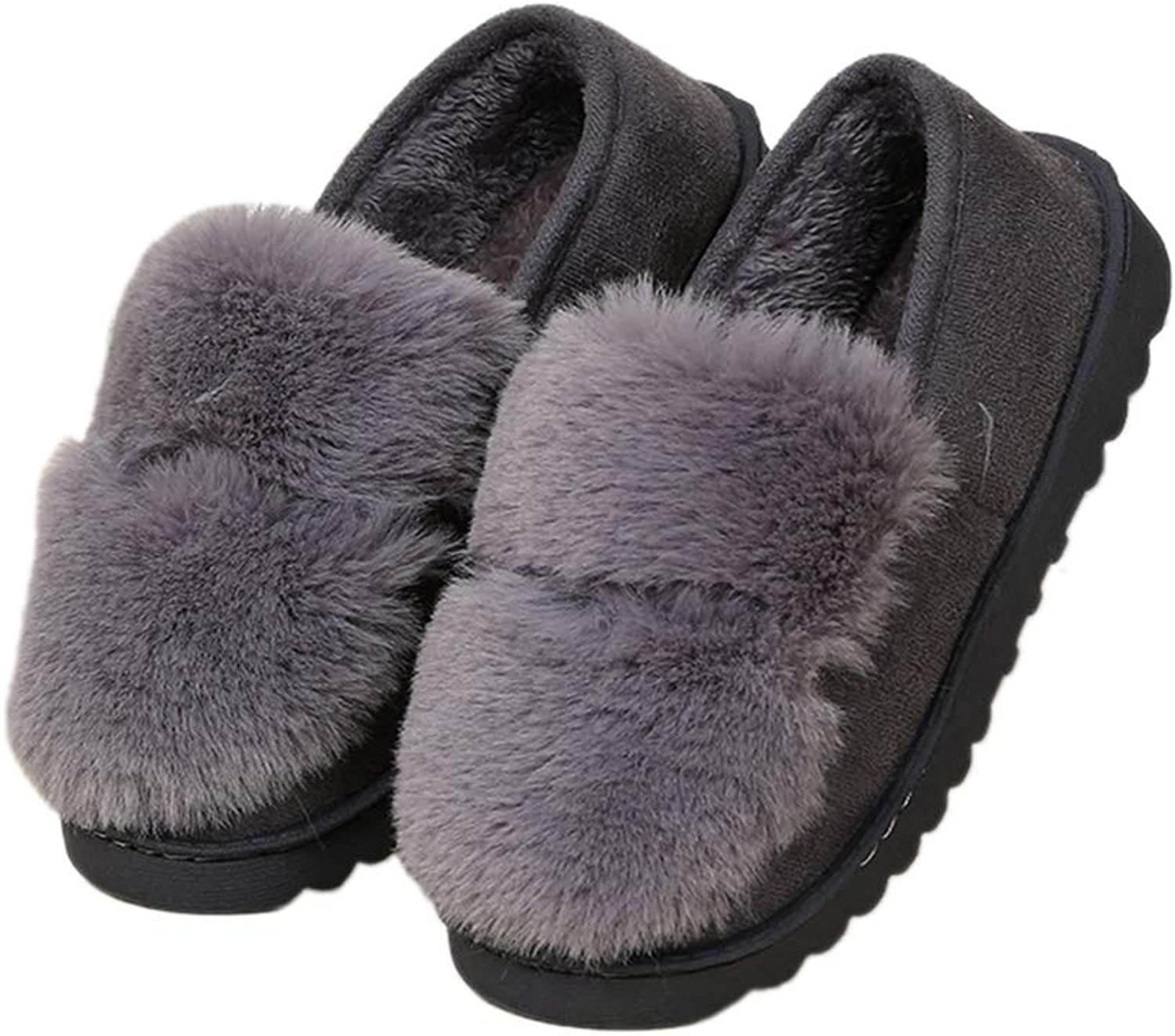 Nafanio Winter Women Slippers Fur Casual Cotton Warm Ladies Home Plush Indoor Footwear Moccasin shoes