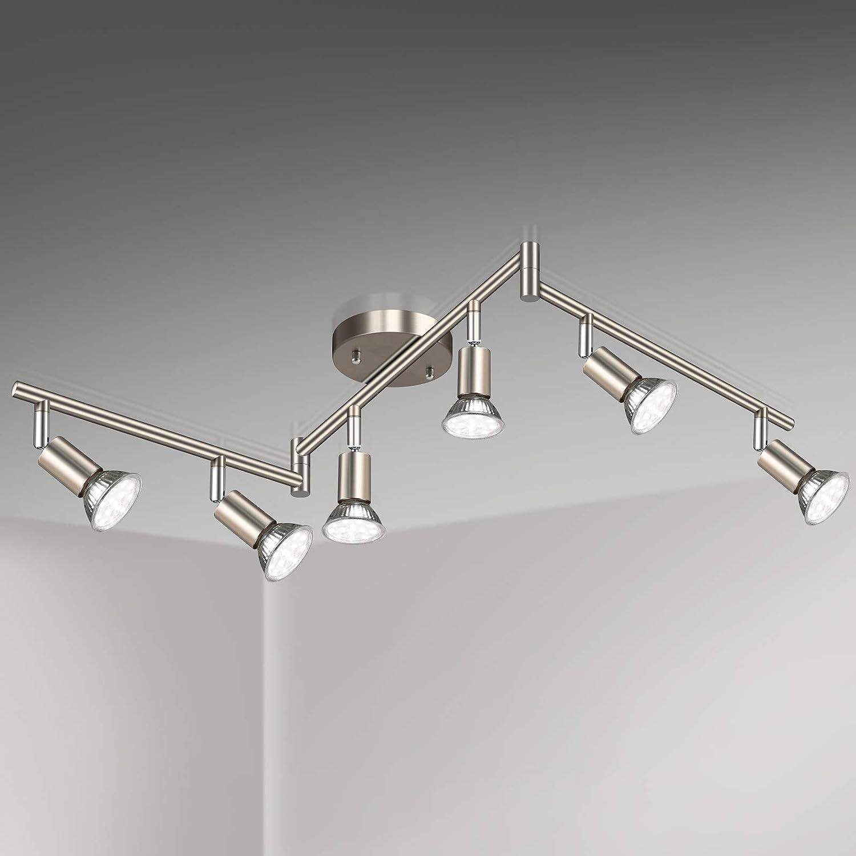 Unicozin LED 6 Cheap super special price Light Track Lighting Matt Way Ceili Nickel Super special price Kit