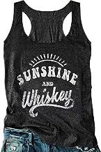 Women Sunshine and Whiskey Tank Top Sunrise Graphic T Shirt Summer Sleeveless O-Neck Casual Tee Tops