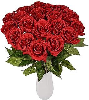 Yidarton 造花 ローズ バラの蕾 手作り ブーケ インテリア 本物そっくり 枯れない花 結婚式 プロポーズ 誕生日 バレンタインデー 母の日 家庭 転居 お祝い お見舞い プレゼント 飾り 装飾 10本セット