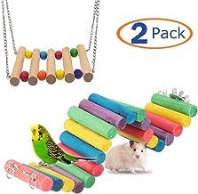 Hamster Bridge Rabbit Bunny Wood Swing Small Pet Ladder Stand Platform Hamster Cage..