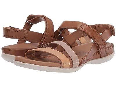 ECCO Flash Ankle Strap Sandal (Powder/Champagne Metallic/Bast) Women