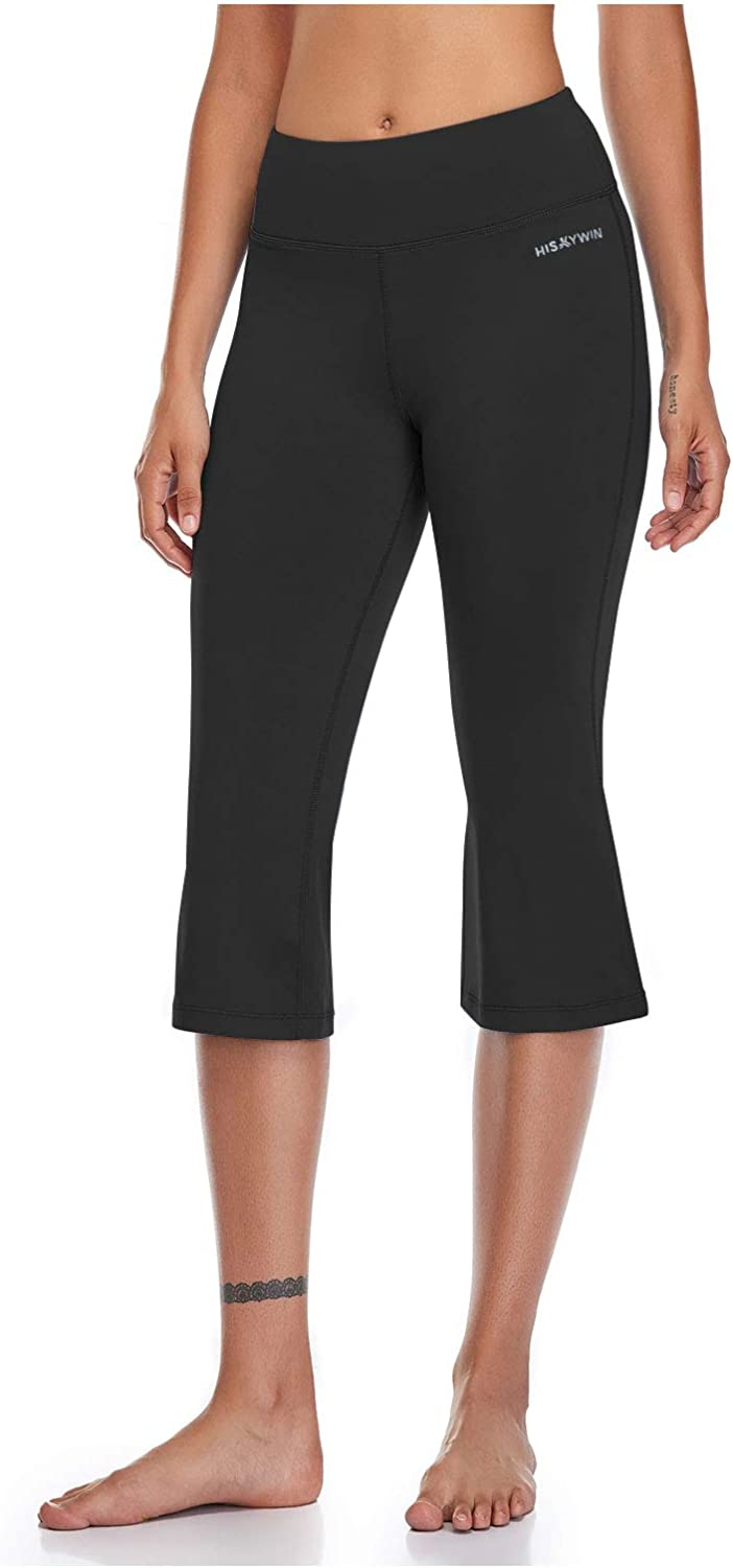 HISKYWIN Womens Straight Leg Yoga Ranking TOP14 Pockets Pants Contr Recommended with Tummy