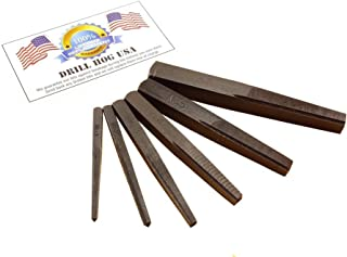 Drill Hog USA 6 Pc Square Easy Out Set Straight Screw Extractor