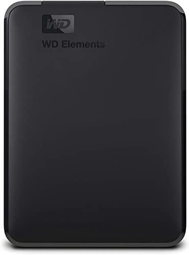 WD 2TB Elements Portable USB 3.0 High-Capacity Hard Drive, WDBU6Y0020BBK, WESN,Black