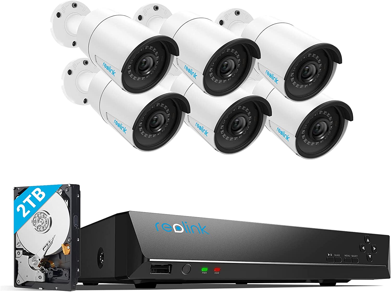 REOLINK Home Security Camera System, 6pcs
