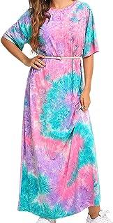 FridayIn women's Fashion Floral Printed Summer Maxi Dresses