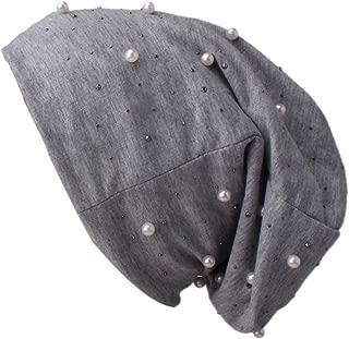 Hats 1PC Women Hat Beading Pearl Inlay Hat Ruffle Chemo Beanie Scarf Turban Wrap Cap Hats