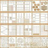 24 Pieces Ultimate Productivity Stencil Set...