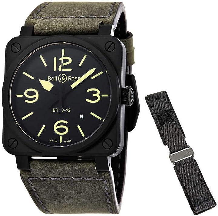 Orologio militare nightlum - bell & ross BR0392-BL3-CE/SCA