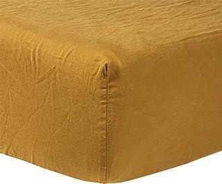 Olivier Desforges Drap Housse Palerme Coton Gold 90 X 200 cm