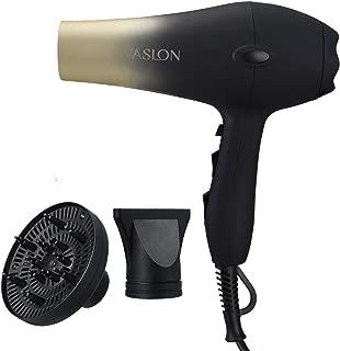 VASLON Secador de pelo de secado rápido, bajo nivel de ruido, con concentradores y difusor, 2 velocidades y 3 ajustes de calor