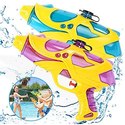 Zaloife Wasserpistole Spritzpistolen Spielzeug Set, 200ml Water Gun mit 8-10 Meter Reichweite Blaster für Kinder Party Strand Pool den Außenbereich Strand Wasserschlacht, 2 Stück
