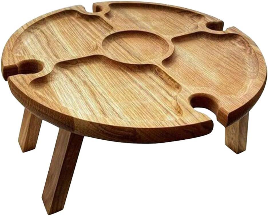 Cabilock Outdoor 55% OFF Wine Picnic Bargain Table Wood Portable Gl Folding