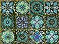 Syvia 12 Pcs 6x6 Inch Mandala Decorative Tile Stickers?Peel and Stick Adhesive Tile Stickers?Home Decor?Furniture Decor?Staircase?Backsplash Tile Stickers