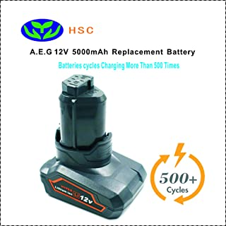 5000mAh 18650 battery pack AEG12D Li-ion Battery 12V Replacement AEG 3520 3526 4932 584932 954932 L1215 L1215P L1215R AkkuL1230 R860 Battery