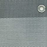 tenax Texstyle Rete Tessuta Decorativa frangivista in PVC e Poliestere, Argento