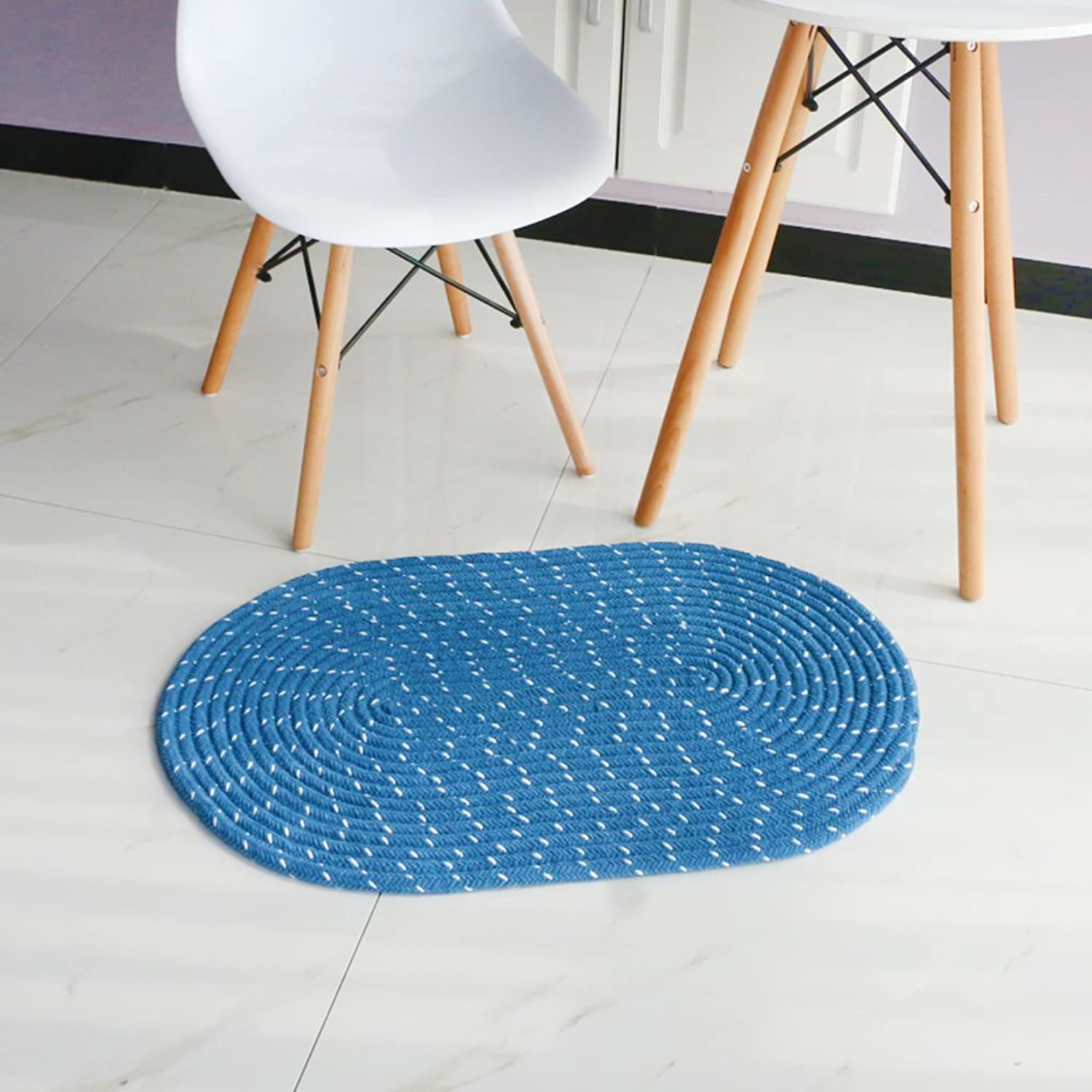Chenille Weave Round Carpet Living Room Bedroom [Study] Hanging Basket Computer Chair mat Bedroom-E 50x120cm(20x47inch)