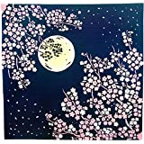 ミヤモトタオル(Miyamoto-towel) 風呂敷 kenema 月夜桜 90×90cm 手捺染大風呂敷 66688