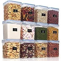 12-Pieces Vtopmart Airtight PBA Free Kitchen Pantry Storage Containers