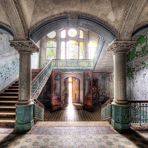 artissimo, Glasbild, 30x30cm, AG4062A, Lost Places III, Urbex, Bild aus Glas, Moderne Wanddekoration aus Glas, Wandbild Wohnzimmer modern