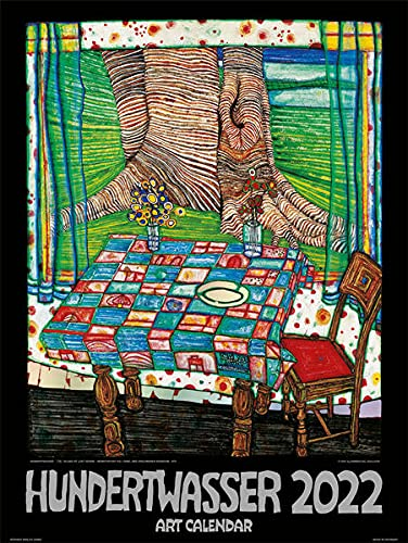 Großer Hundertwasser Art Calendar 2022: Der Klassiker
