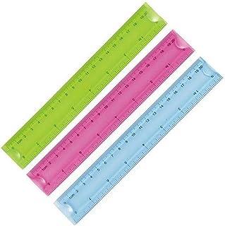 Kentop Règle en plastique règle souple multicolore Ruler Dessin Tailleur Instrument de Mesure Scolaires Idéal pour Enfant ...