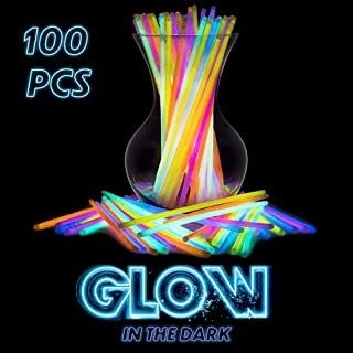 SWIPPLY | Glow In The Dark Sticks For Party Supplies | (100 PCs 7 Colors) Fun Magic Glo Stik Toys | Cool Bracelet & Neckla...