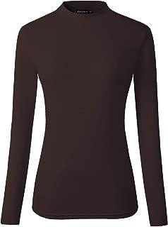 Women's Long Sleeve Slim Fit Turtleneck Basic Layering T-Shirt