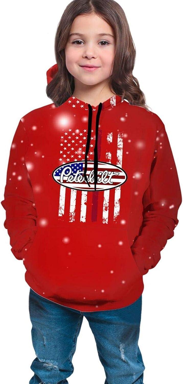 YAkjfdivn shirt American Flag Brand new Cheap sale Peterbilt Youth Boys 3D Girls Prin