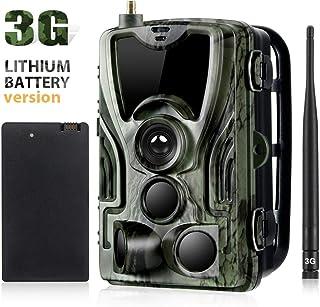YTLJJ 3G Cámara de Caza con Batería de Litio 5000Mah Nocturna Envío Mensaje 16MP 1080P Vigilancia Trail Cámara de Juego Impermeable IP65 Invisible Visión Nocturna Distancia de Disparo 65 Pies