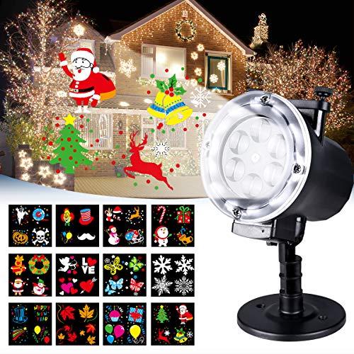Luces de Proyector, LED Lámpara de Proyección de Navidad para Exterior e Interior Luz de Proyección con