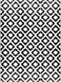 BalajeesUSA 9'x12' Indoor Outdoor Rugs Patio mat Plastic Straw Camping Rug RV Picnic mats Wholesale Price 514, Black and White by Joshi Group INC