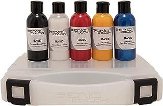 Senjo Color ® Airbrush Kleurset (Voor gezicht & lichaam) Dermatologisch geteste kleuren 5 x15ml of 75ml kleuren: Zwart, Wi...