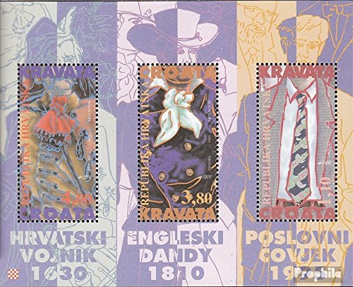 Prophila Collection Kroatien Block11 (kompl.Ausg.) 1995 Geschichte der Krawatte (Briefmarken für Sammler)