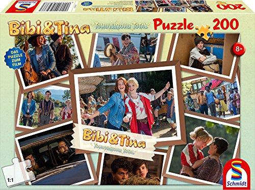 Schmidt Spiele Bibi & Tina Puzzle 56237, beige, Film 4, Freundinnen für alle Fälle 200 Teile