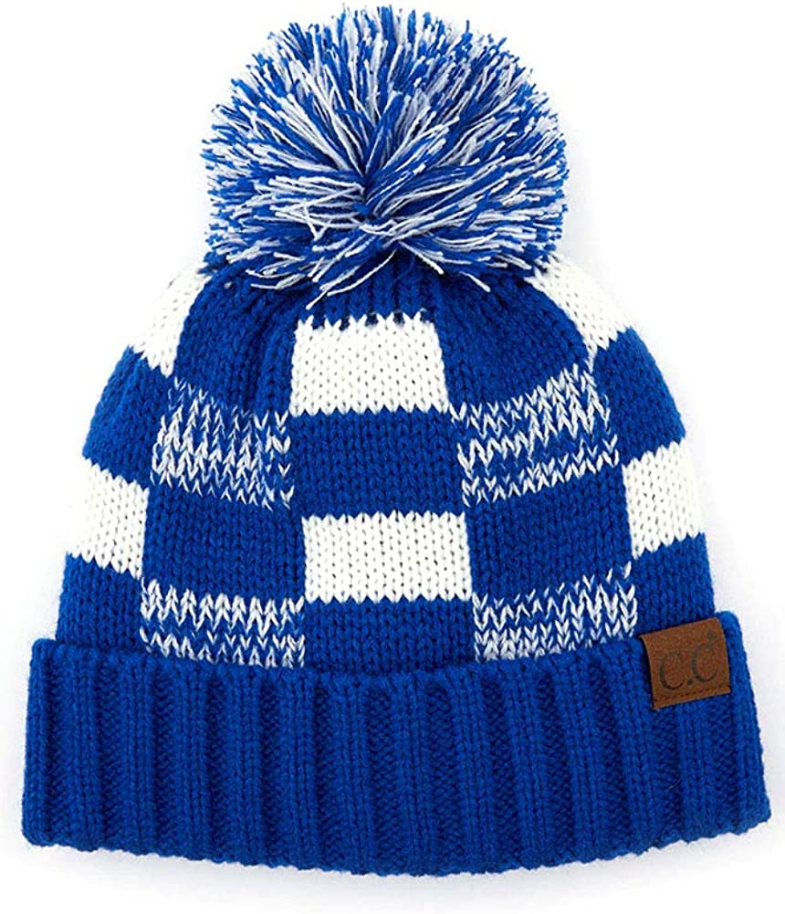 ScarvesMe Exclusive University College School Team Color Knit Skully Hat Beanie with Pom
