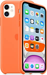 EZ Tuxedo iPhone 11 Case 6.1 inch,Ultra Slim Fit iPhone Case Liquid Silicone Gel Cover with Full Body Protection Anti-Scratch Shockproof Case Compatible with iPhone 11(Orange)