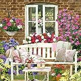Ambiente Papierservietten - Servietten Lunch / Party / ca. 33x33cm Garden Bench - Ideal Als Geschenk Und Tisch-Deko