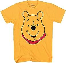 Winnie the Pooh Disney Character Face Costume T-Shirt (Winnie the Pooh, Gold, Medium)