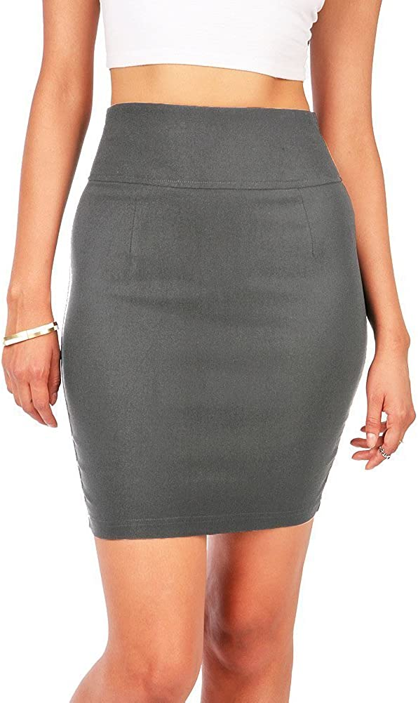 Ambiance Women's Juniors Stretchy Bodycon Pencil Skirt