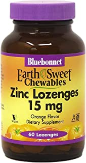 BlueBonnet Earthsweet Zinc Lozenges, Orange, 60 Count