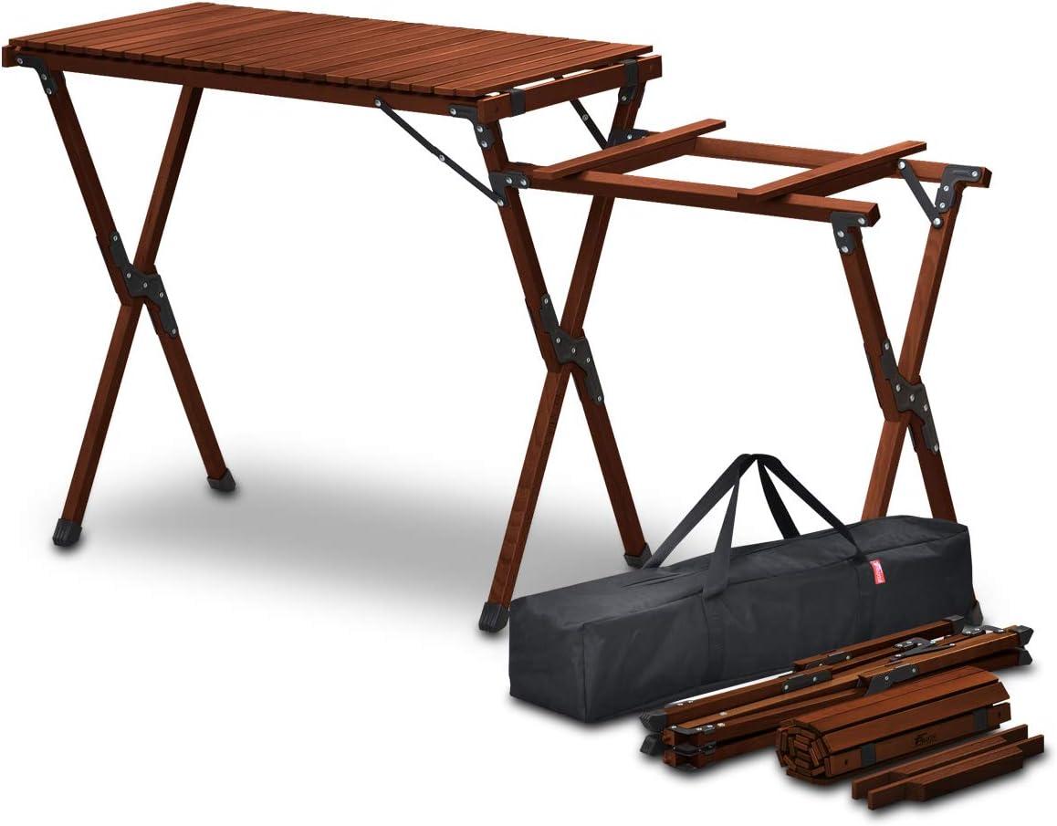 ウッドロールキッチンテーブル サイドテーブル付きタイプ/FIELDOOR(フィールドア)