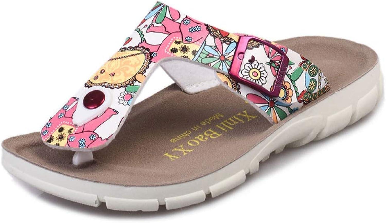MEIZOKEN Women's Beach Flip Flops Classic Cork Slip on Slippers Outdoors Casual Flat Sandals