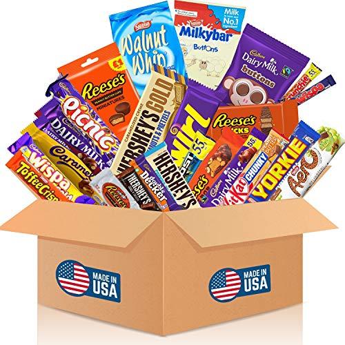 HappyLOL® 24 Teile - Schokolade aus aller Welt - USA Süßigkeiten Box zum naschen oder verschenken - Coole Geschenkidee