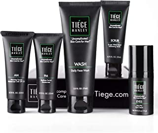 Tiege Hanley Men's Skin Care System Level 2 | Five Amazing Products Including Face Wash, Morning & Bedtime Moisturizer, Ex...