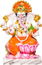 Sharvgun Ganesh Ji Inch Marble Idols Multi-Coloured Indian Meditation Temple Mandir Puja Items